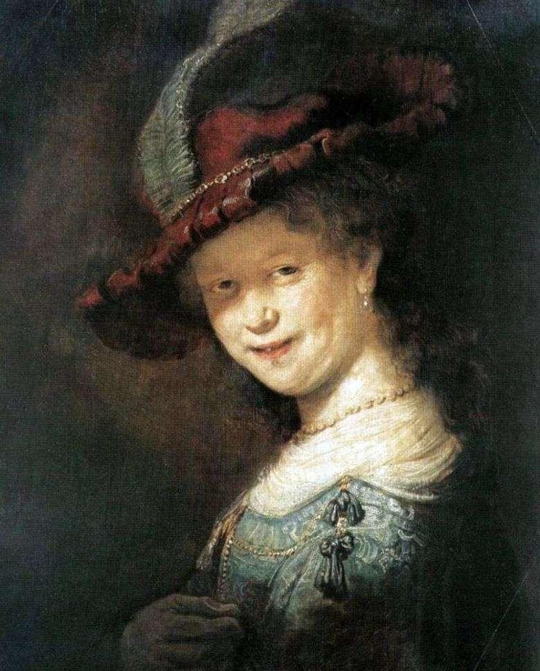 Retrato de Saskia van Eilebürch   Rembrandt Harmens Van Rhine