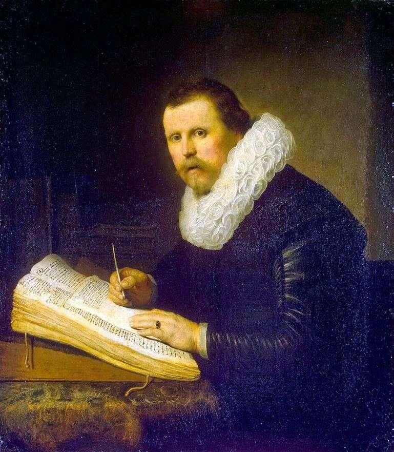 Retrato de un científico   Rembrandt Harmens Van Rhine