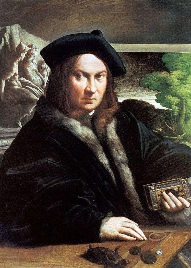 Retrato de un hombre   Francesco Parmigianino