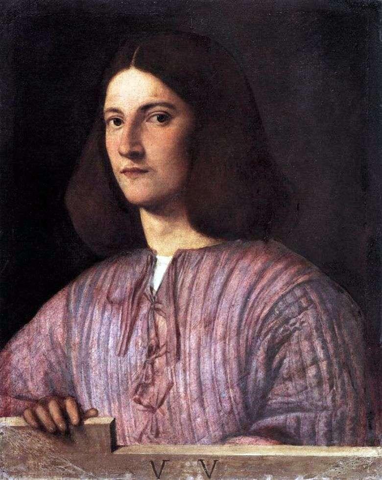 Retrato de un hombre joven   Giorgione