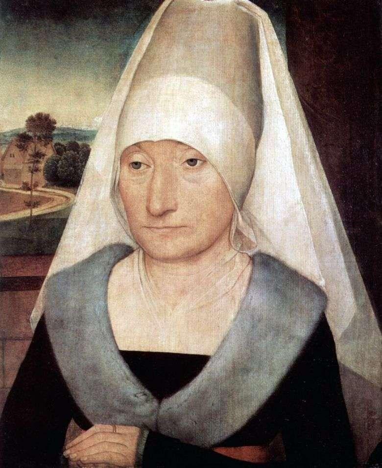 Retrato de una anciana   Hans Memling