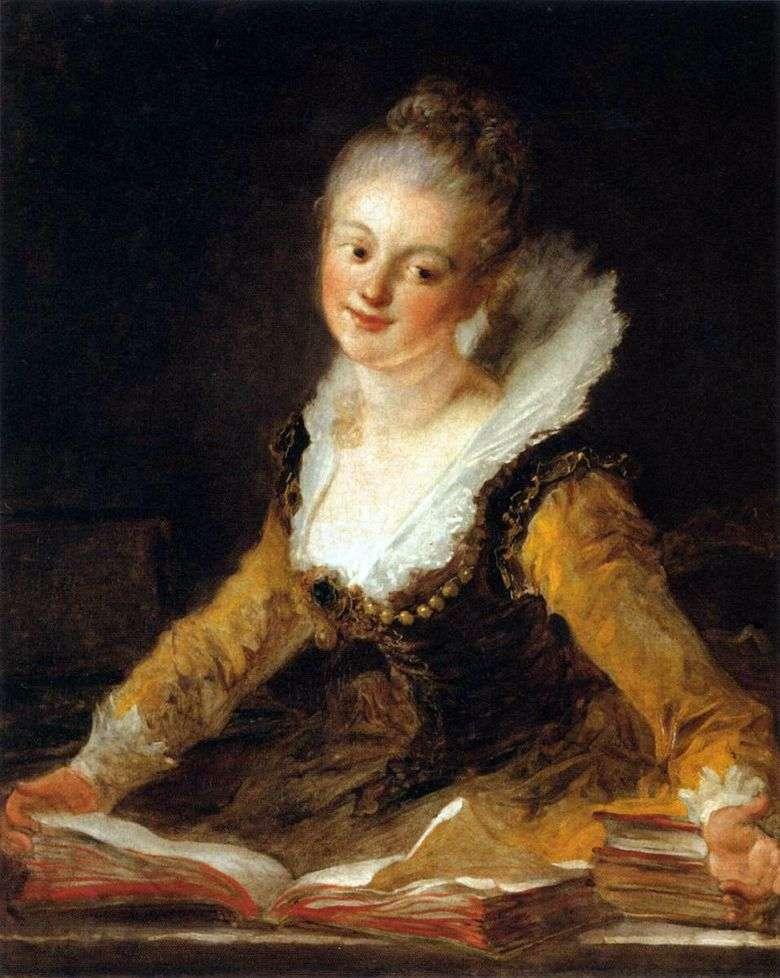 Retrato de una dama como musa de la ciencia   Jean Honore Fragonard