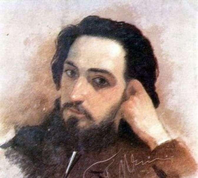 Retrato de V. M. Garshin   Grigory Myasoedov