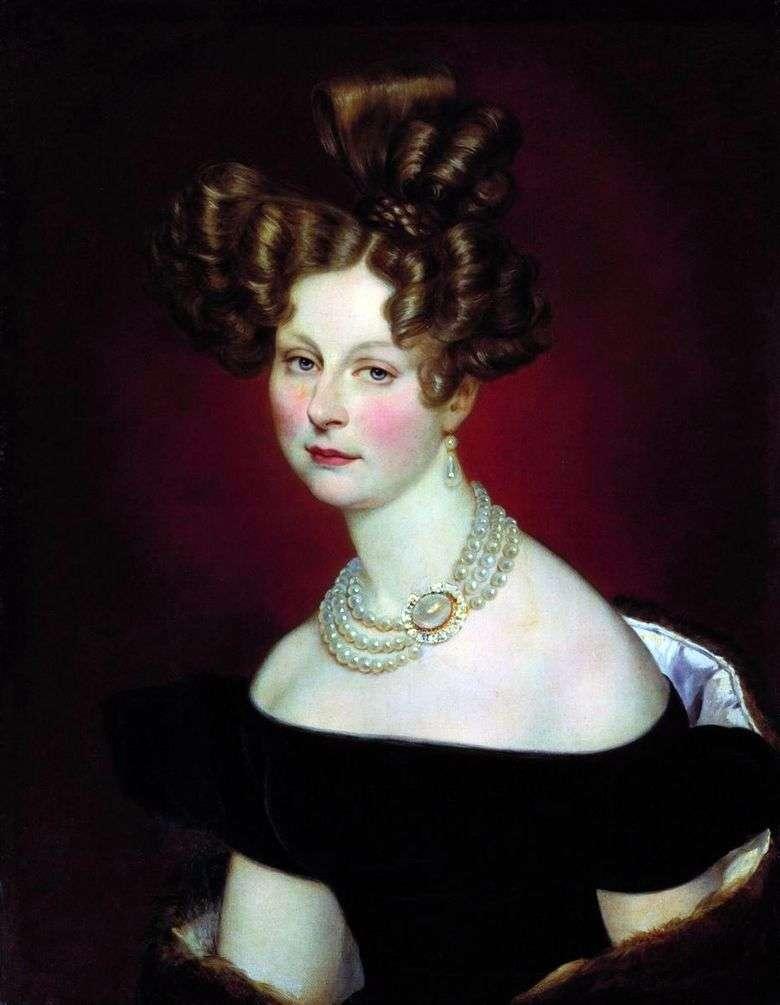 Retrato de vel. Príncipe Elena Pavlovna   Karl Bryullov