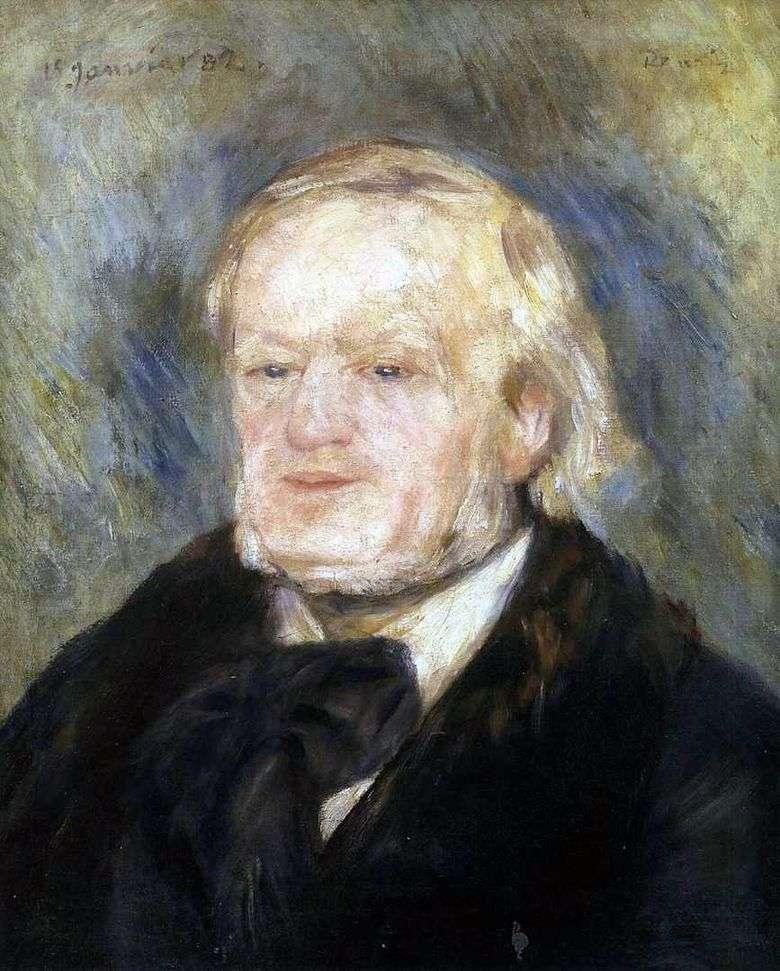 Retrato de Wagner   Pierre Auguste Renoir