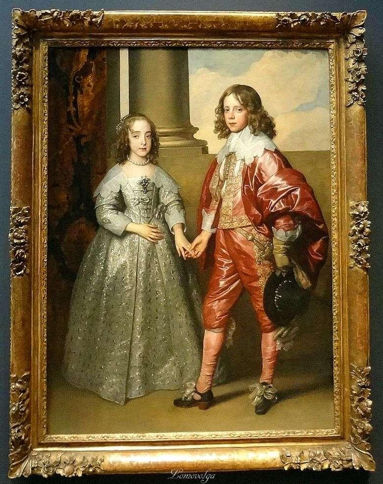 Retrato de William de Orange con su novia Maria Stewart   Anthony Van Dyck