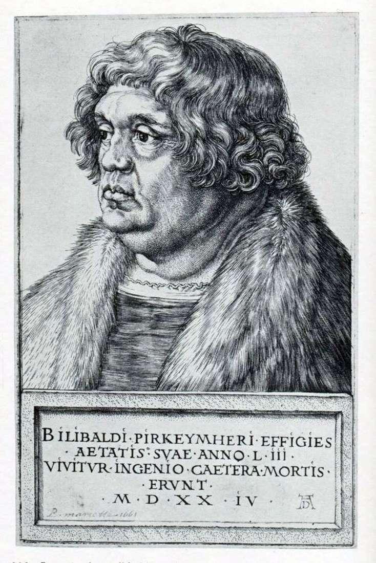 Retrato de Willibald Pirkheimer   Albrecht Dürer