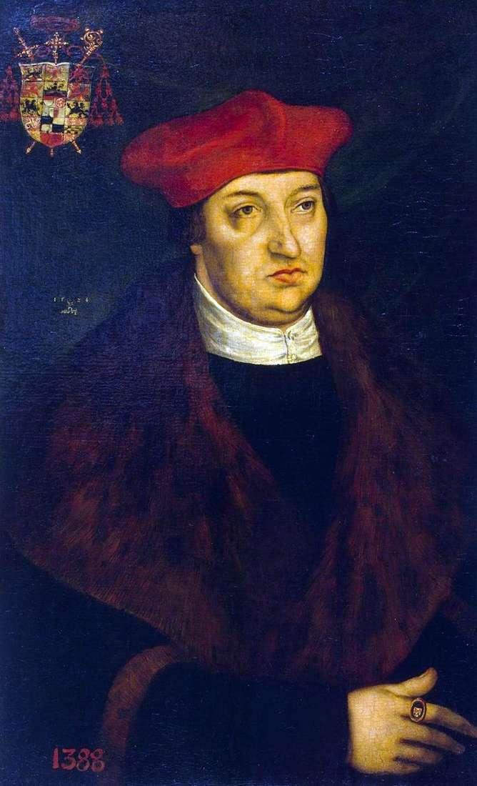 Retrato del cardenal Albrecht de Brandeburgo   Lucas Cranach
