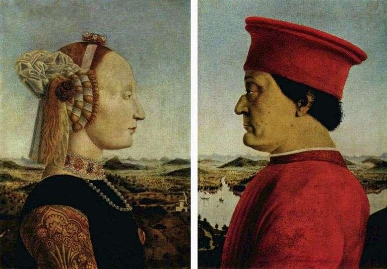 Retrato del duque Federigo Montefeltro y la duquesa Battista Sforza   Piero della Francesca