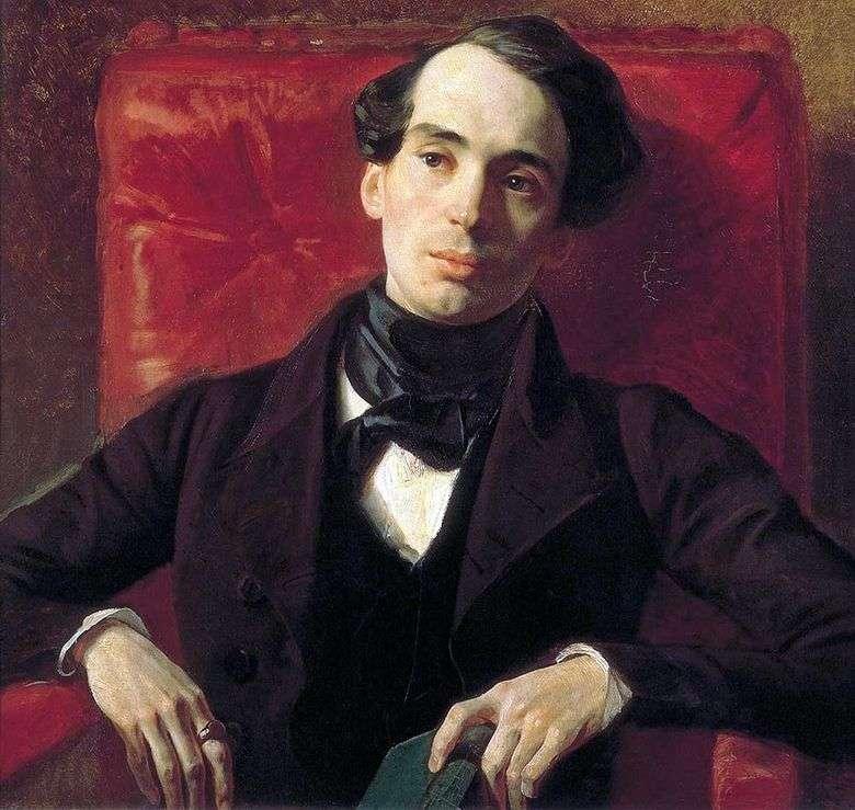 Retrato del escritor A. N. Strugovshchikov   Karl Bryullov