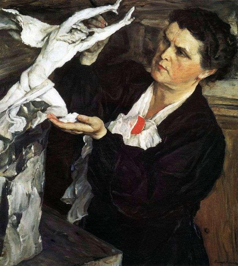 Retrato del escultor V. I. Mukhina   Mikhail Nesterov