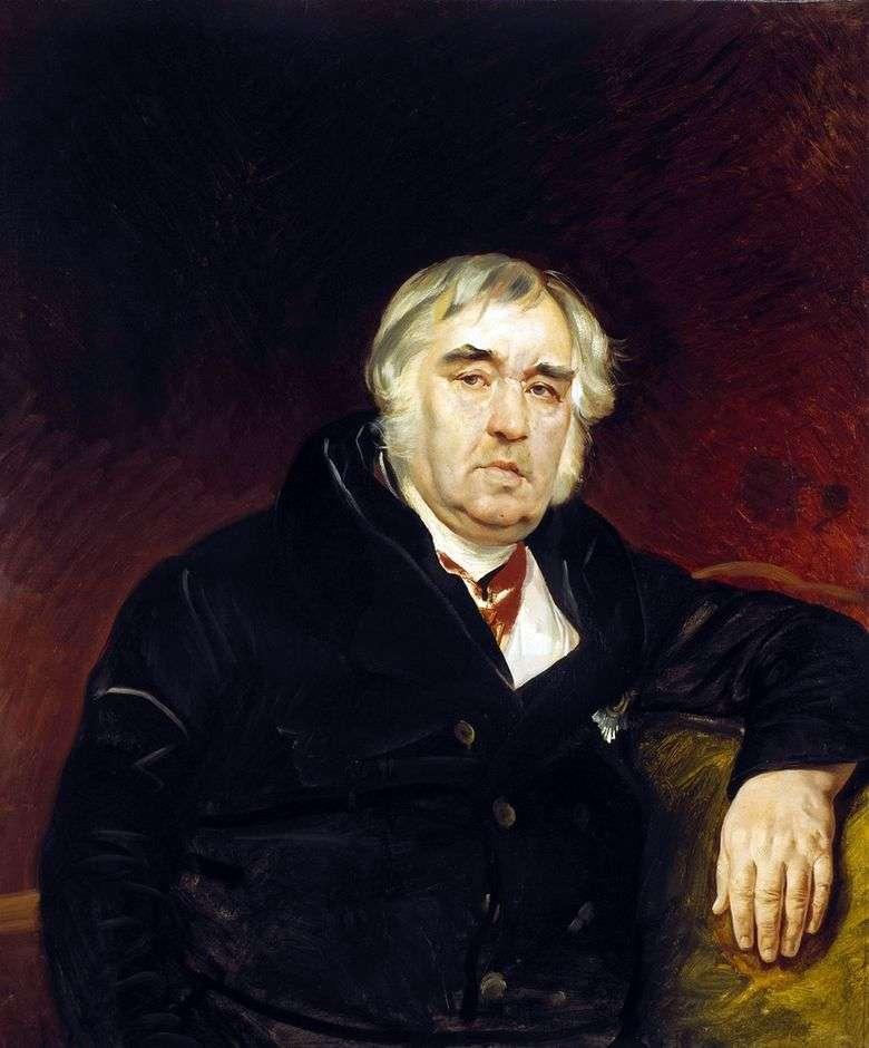 Retrato del fabulista I. A. Krylov   Karl Bryullov