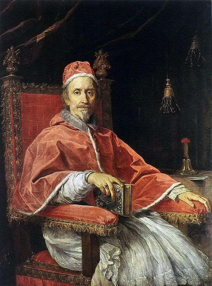 Retrato del Papa Clemente IX   Carlo Maratta