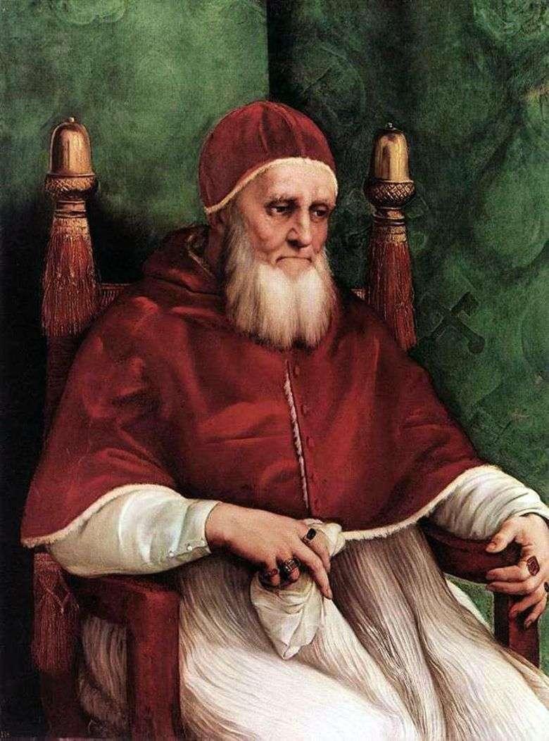 Retrato del Papa Julio II   Rafael Santi