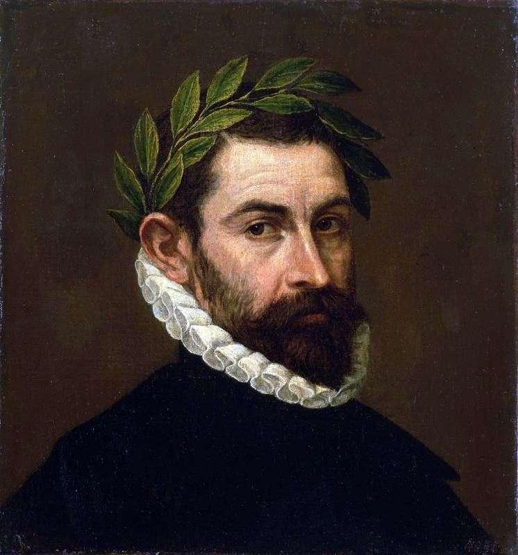 Retrato del poeta Alonso Ersilla i Zunigi   El Greco