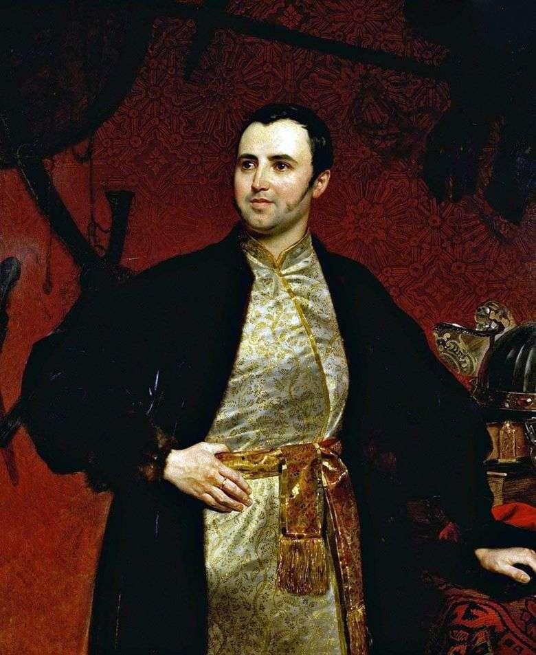 Retrato del príncipe M. A. Obolensky   Karl Bryullov