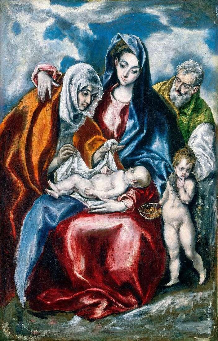 Sagrada Familia Con Santa Ana El Greco Es Greco El