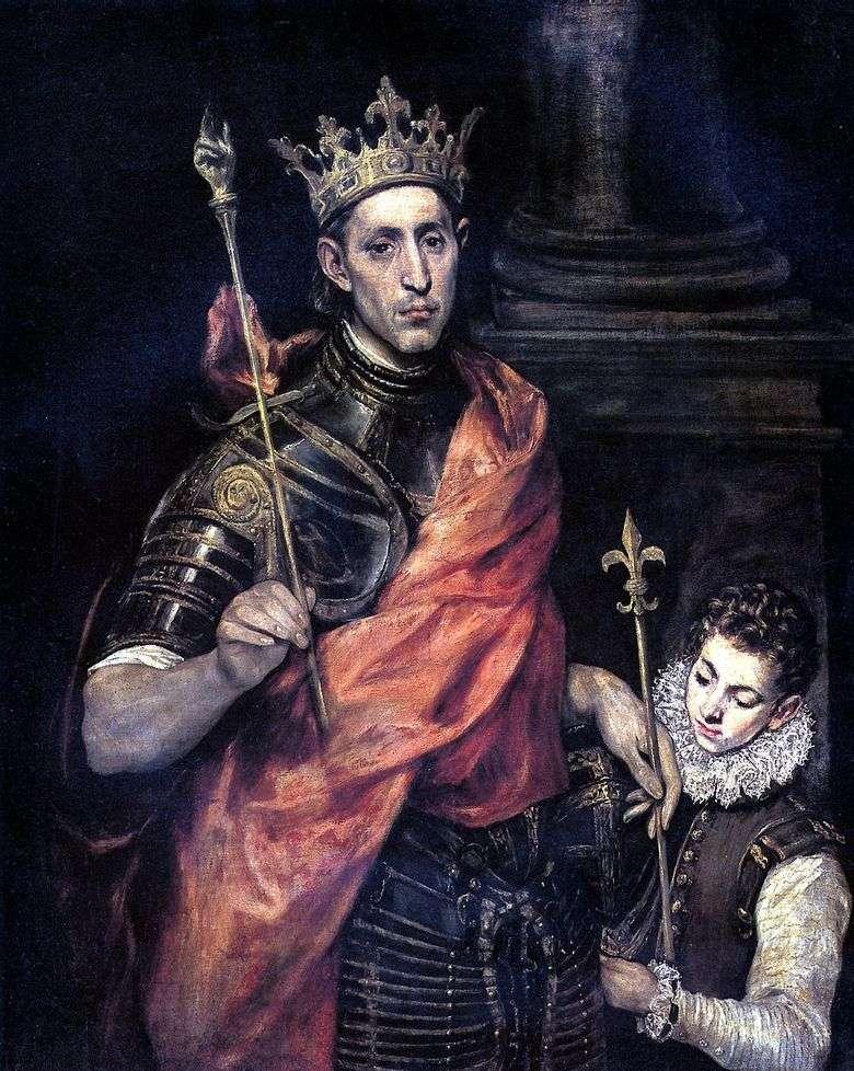 San Luis, rey de Francia, y Page   El Greco