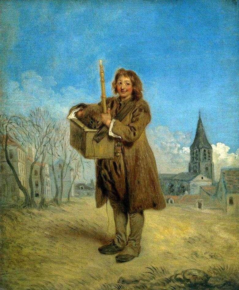 Savoyard con una marmota   Jean Antoine Watteau