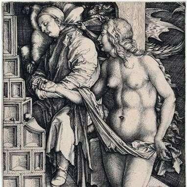 Seducción perezosa. Grabado   Albrecht Durer
