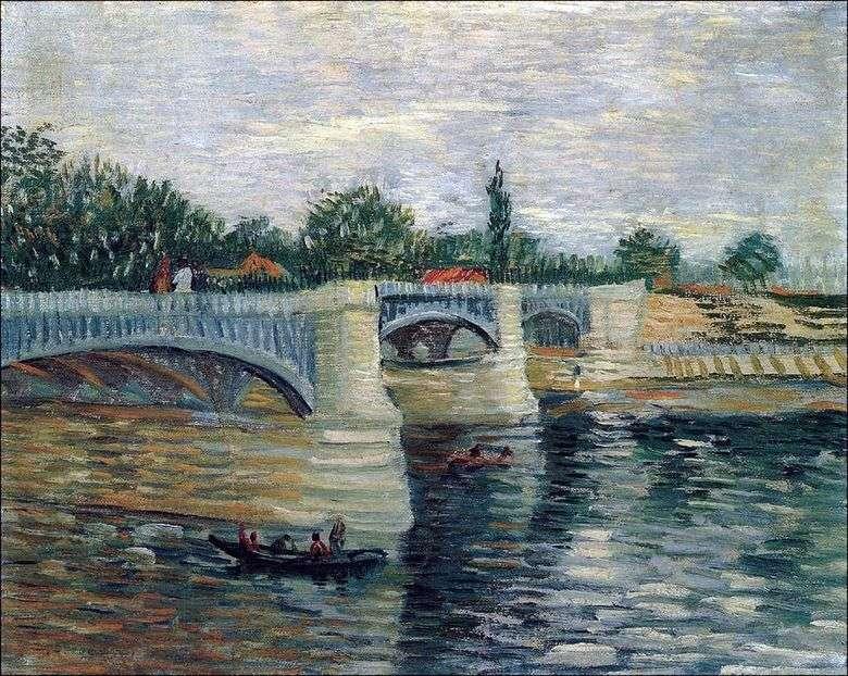 Seine con el puente Grand Jet Pontoon   Vincent Van Gogh