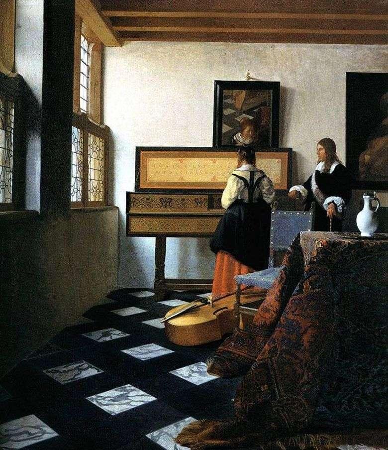 Señora de Virginia y Caballero   Jan Vermeer