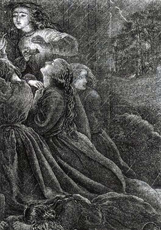 Siete vírgenes necias   John Everett Millais