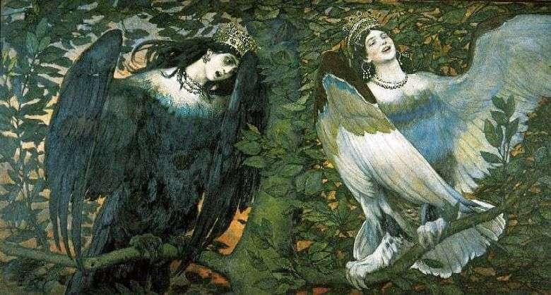 Sirin y Alkonost. Canción de alegría y dolor   V. M. Vasnetsov
