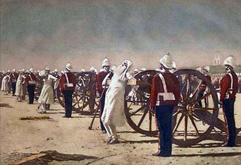 Supresión del levantamiento indio por los británicos   Vasily Vereshchagin