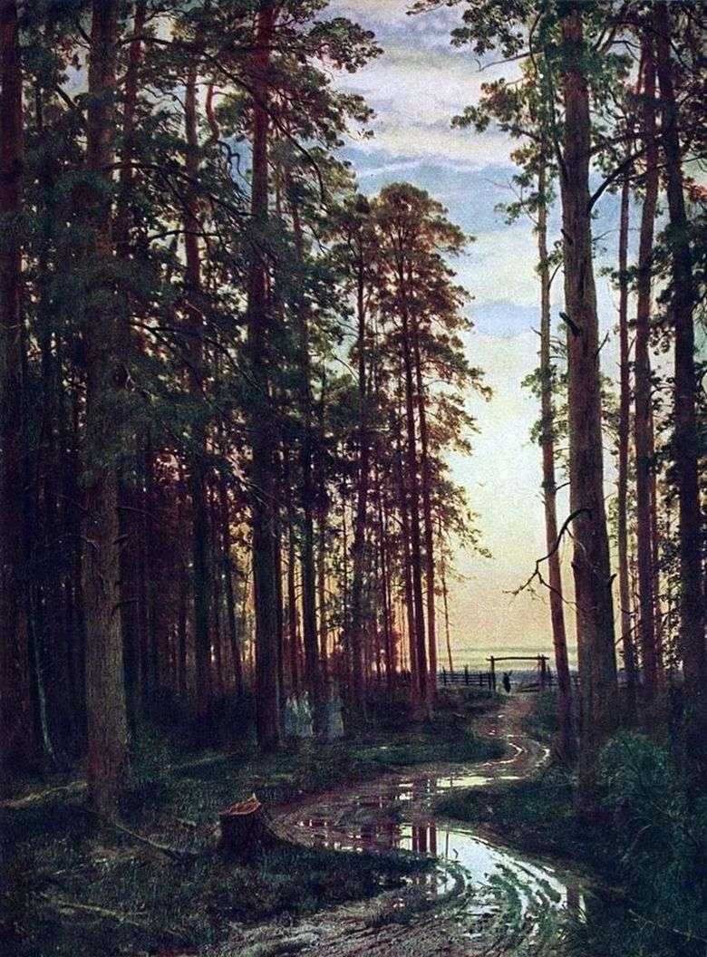 Tarde en un bosque de pinos   Ivan Shishkin