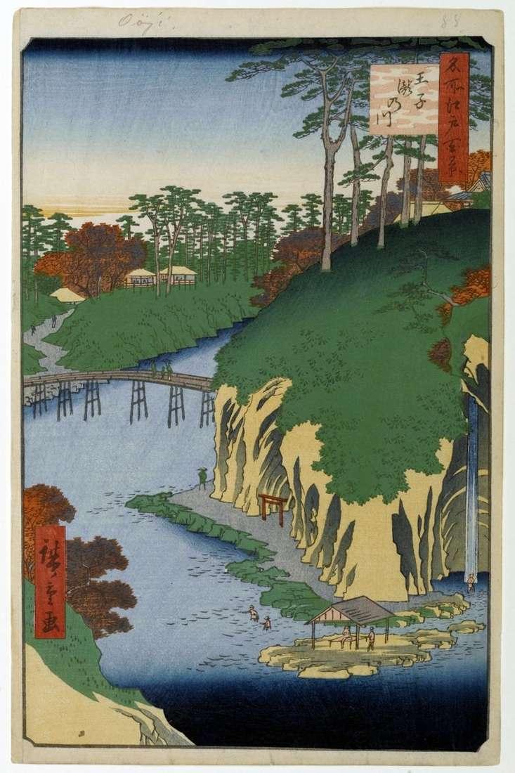 Territorio de Takinawa en Oji   Utagawa Hiroshige