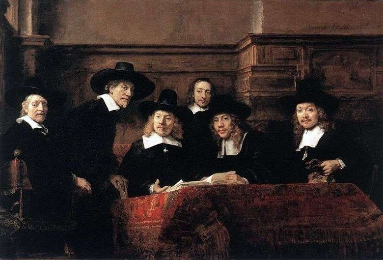 Tienda de telas Sindik   Rembrandt Harmens Van Rhine