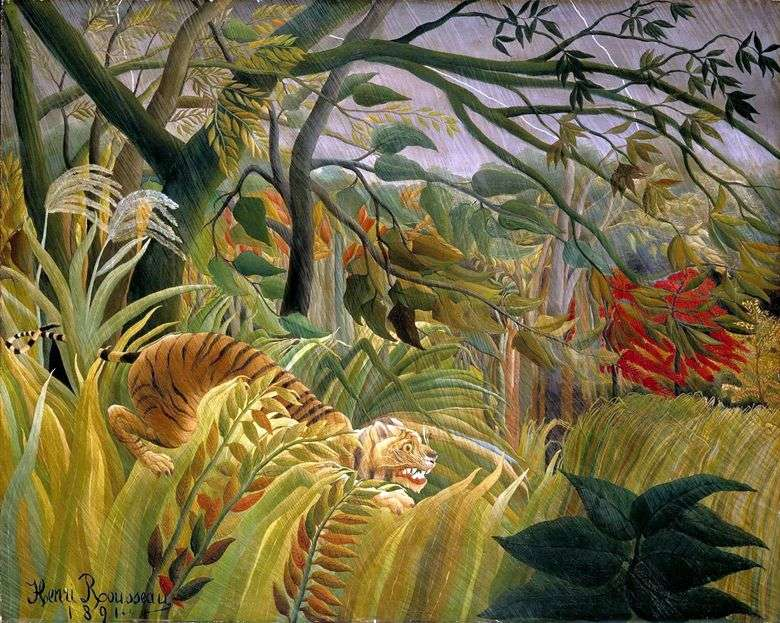 Tormenta en la selva   Henri Rousseau