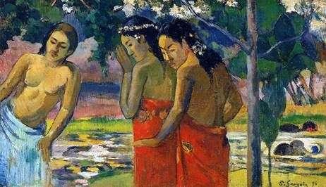 Tres tahitianos   Paul Gauguin