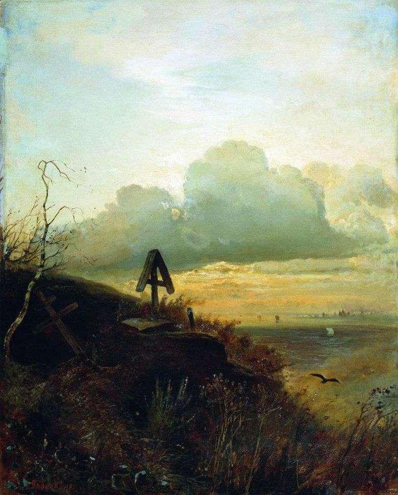 Tumba en el Volga   Alexei Savrasov
