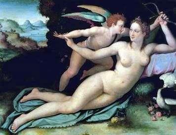 Venus y Cupido   Alessandro Allori