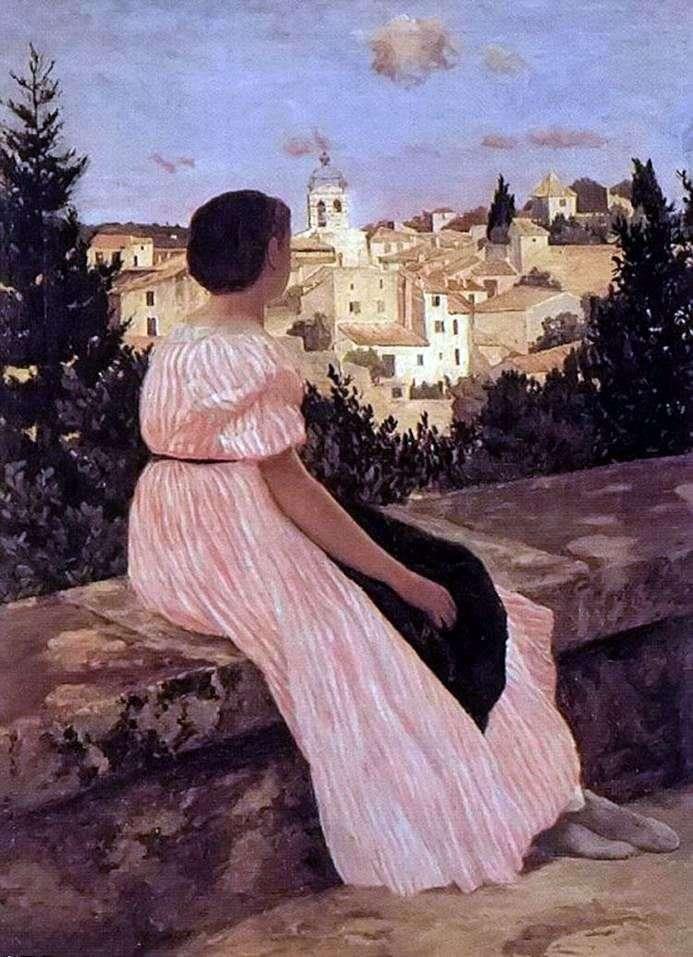 Vestido rosa   Frederick Basile