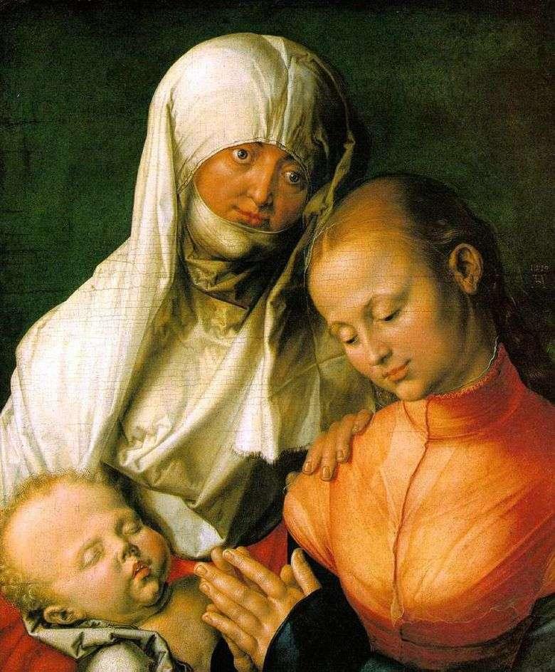 Virgen María con el bebé y Santa Ana   Albrecht Durer