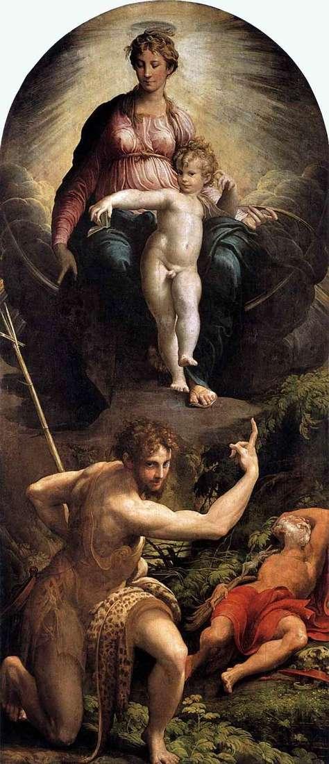 Visión de San Jerónimo   Francesco Parmigianino