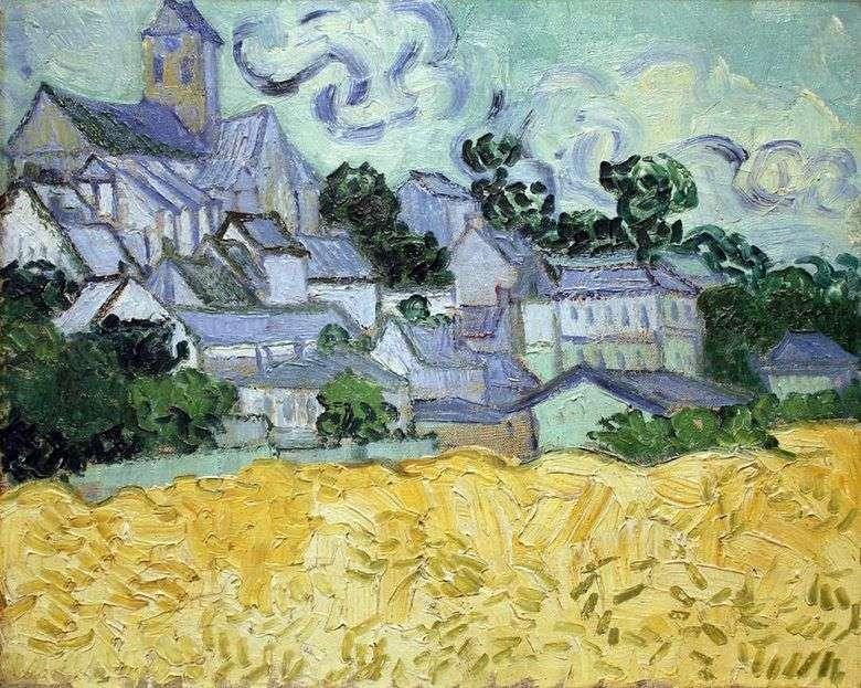 Vista de Auvers y la Iglesia   Vincent Van Gogh