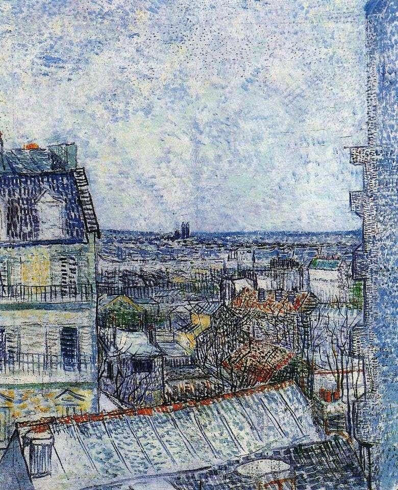 Vista de París desde la habitación de Vincent en Rue Lepic II   Vincent Van Gogh