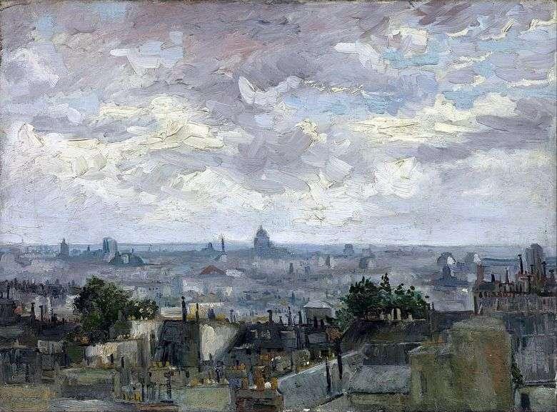 Vista sobre los tejados de París   Vincent van Gogh