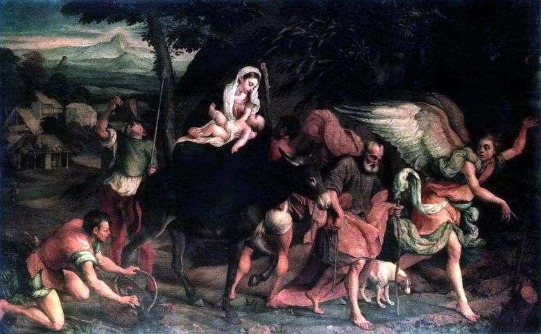Vuelo a Egipto   Jacopo Bassano