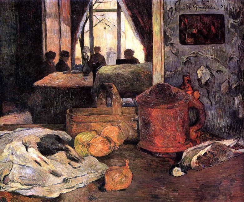 Nature morte à lintérieur, Copenhague   Paul Gauguin