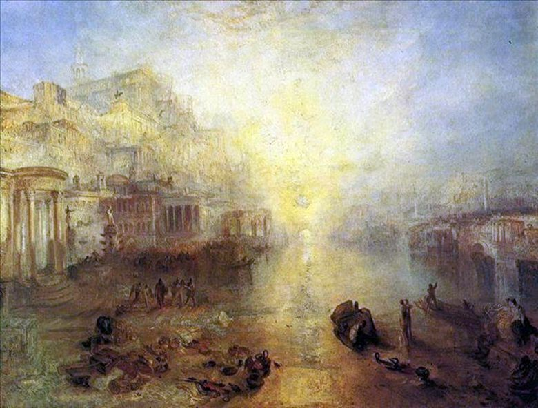 Italie antique Ovide expulsé de Rome   William Turner